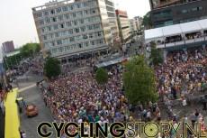 Euskaltel op het podium (foto: © Laurens Alblas / Cyclingstory.nl)