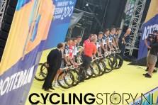 Team Saxo Bank met de broers Schleck (foto: © Laurens Alblas / Cyclingstory.nl)