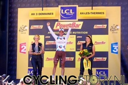 Riblon mocht op het podium komen (foto: © Laurens Alblas/Cyclingstory.nl)