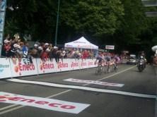 Bij de eerste doorkomst lagen Malori, Brutt en Timmer nog op kop. (Foto: © Tim van Dijk/Cyclingstory.nl)