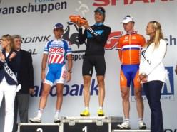 Het podium met Kenny van Hummel, Edvald Boasson Hagen en Stefan van Dijk. (foto: © Tim van Hengel/Cyclingstory.nl)