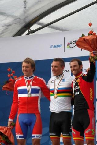 Edvald Boasson Hagen, Philippe Gilbert en Alejandro Valverde. (foto: © Tim van Hengel / cyclingstory.nl)