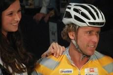 Michael Boogerd reed mee in de prominentenkoers. (foto: © Tim van Hengel/cyclingstory.nl)