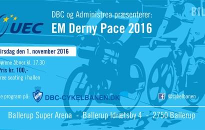 Se design af billet til EM i Derny pace