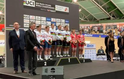 Dansk VM-bronze i holdforfølgelse. Verdensrekord af Australien