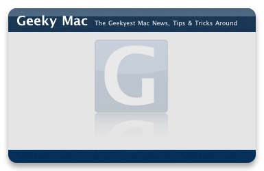 Geeky Mac Dashboard Widget