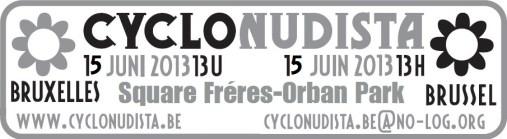 Cyclonudista Brussels 2013 banner