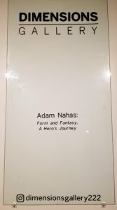 Dimensions Gallery Features Adam Nahas: Form and Fantasy, A Hero's Journey