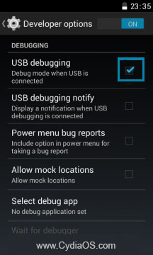 Elife E7 USB Debugging
