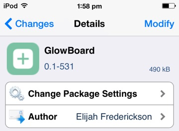 glowboard free cydia tweak