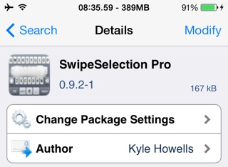 swipeselection tweak