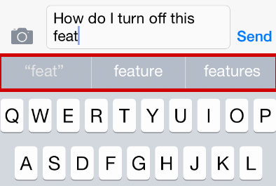 predictive text iOS 8.1.2 bugs