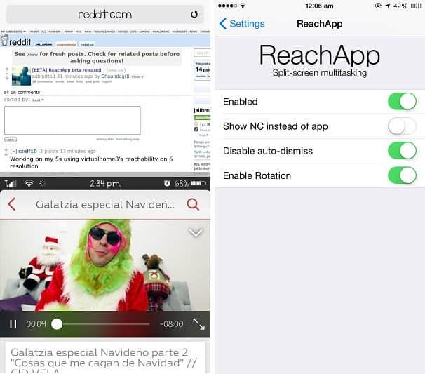 ReachApp iOS 8 Cydia tweak