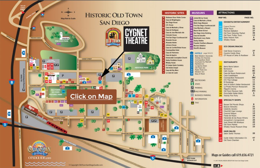 Old Town Map   Cygnet Theatre Cygnet Theatre  Old Town Map