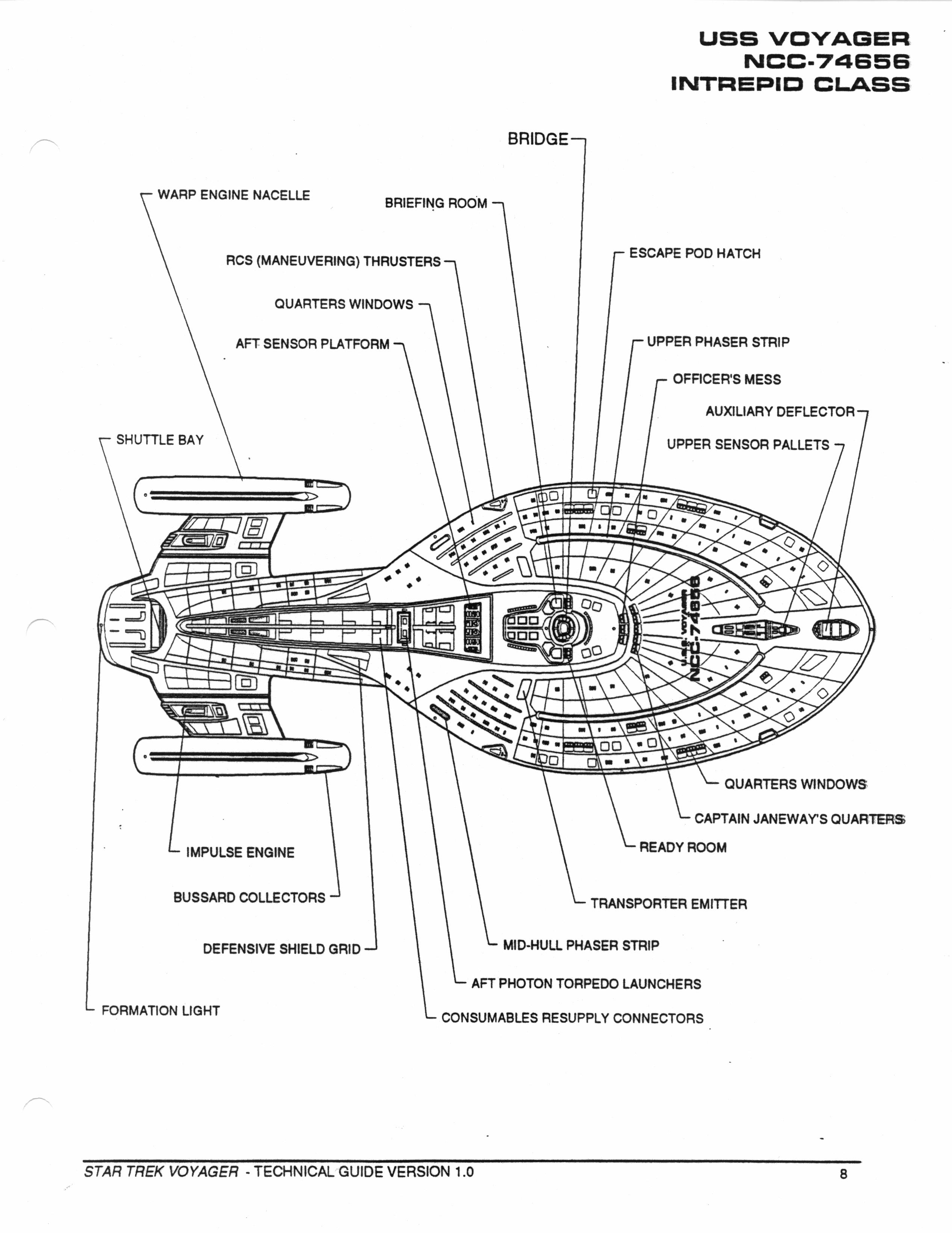 Star Trek Blueprints Star Trek Voyager Technical Manual