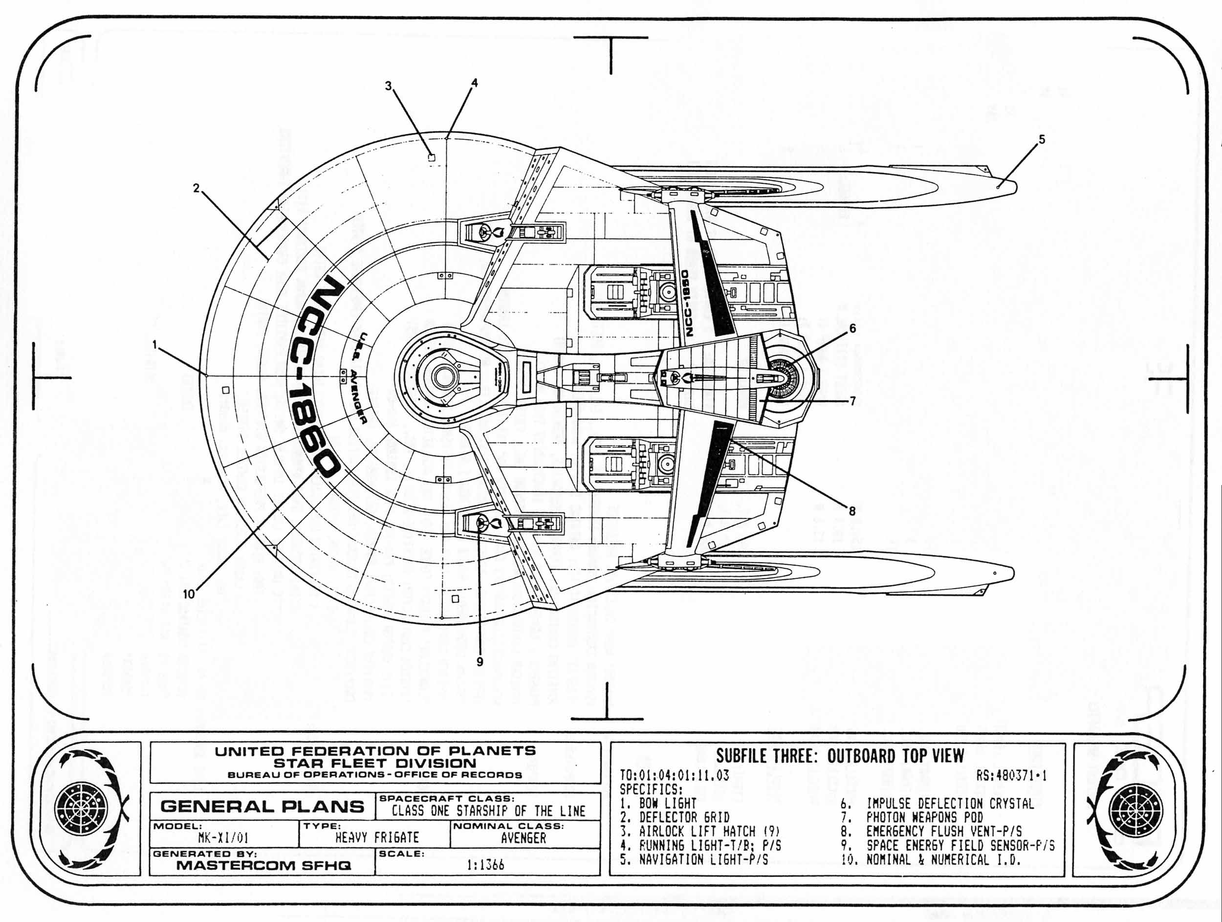 Star Trek Blueprints Federation Reference Series Volume 1