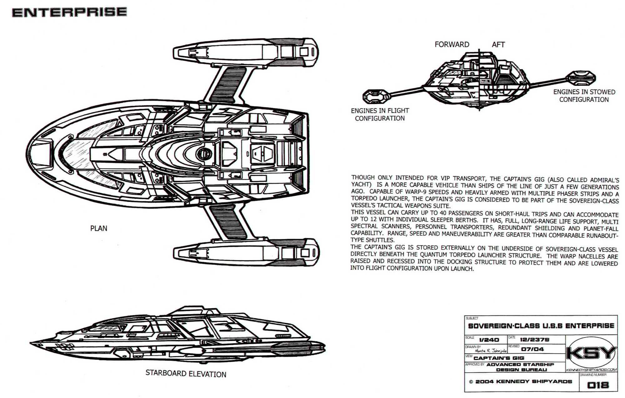 Republic Spqr Star Trek Blueprints Sovereign Class