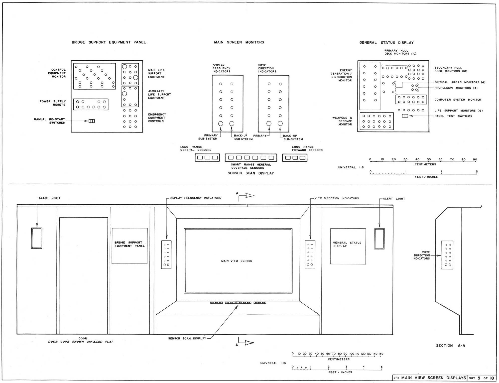 U S S Enterprise Bridge Blueprints