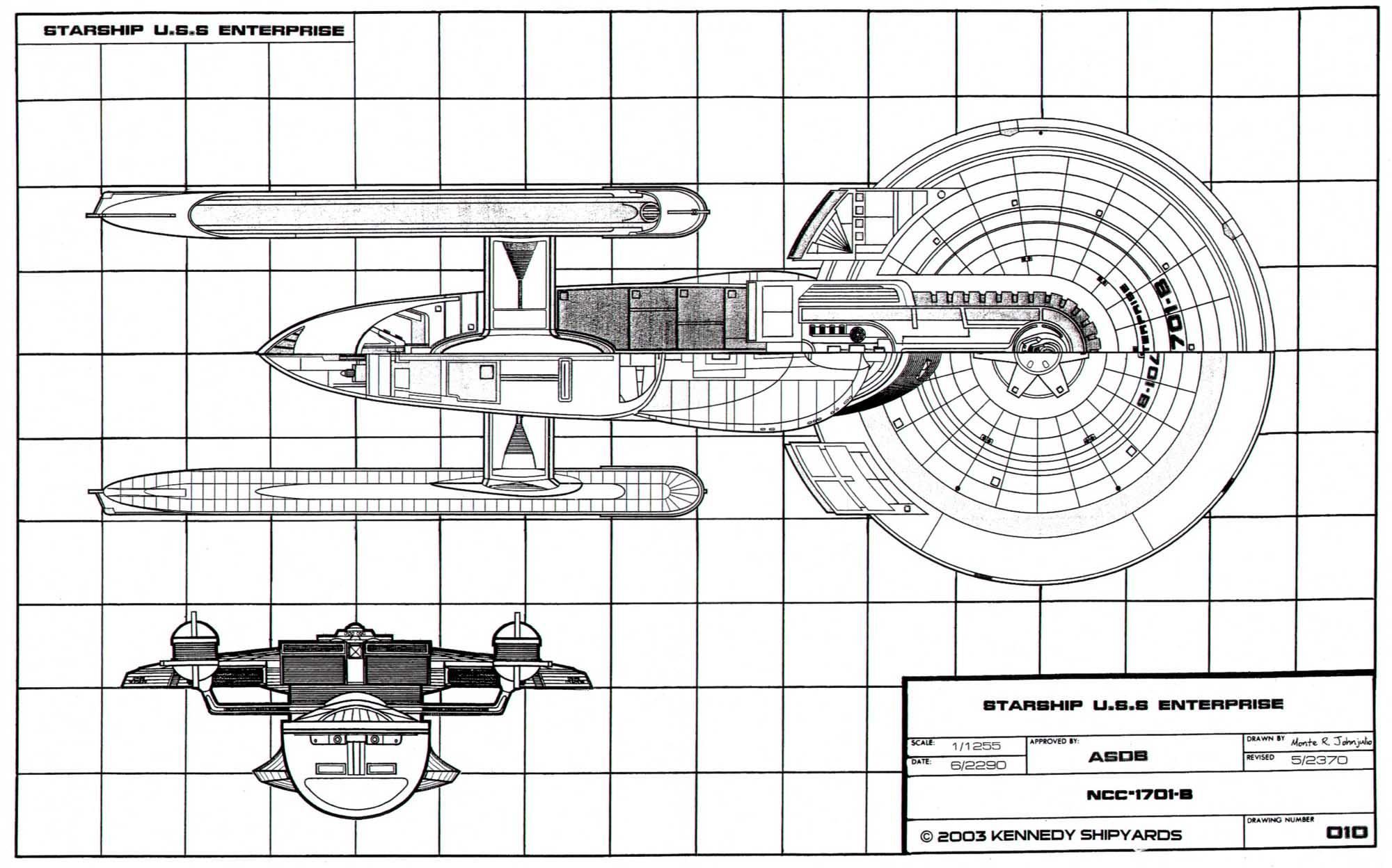 Starfleet Vessel U S S Enterprise Ncc B General