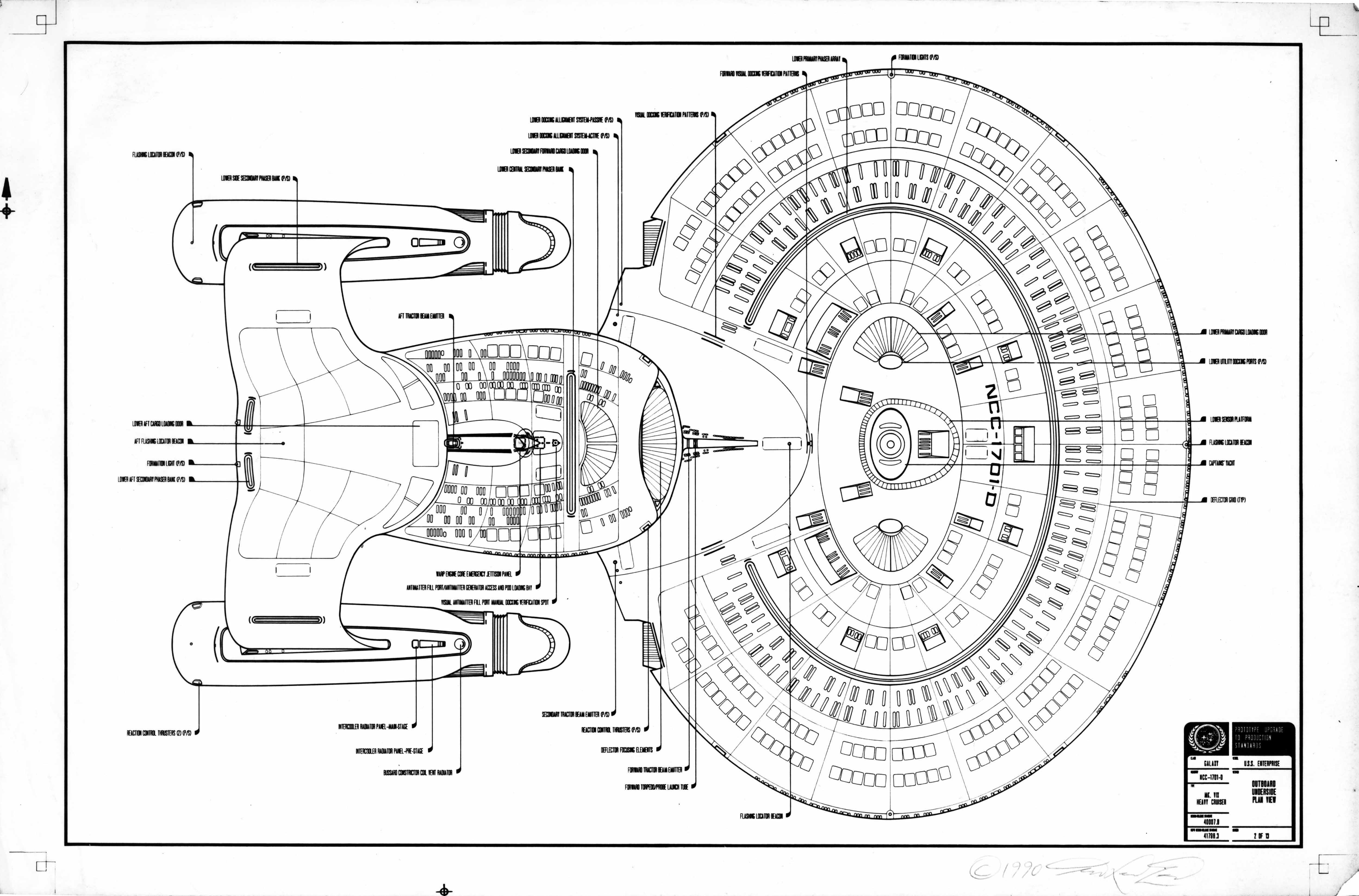 The Original Ed Whitefire Enterprise Ncc D Blueprints