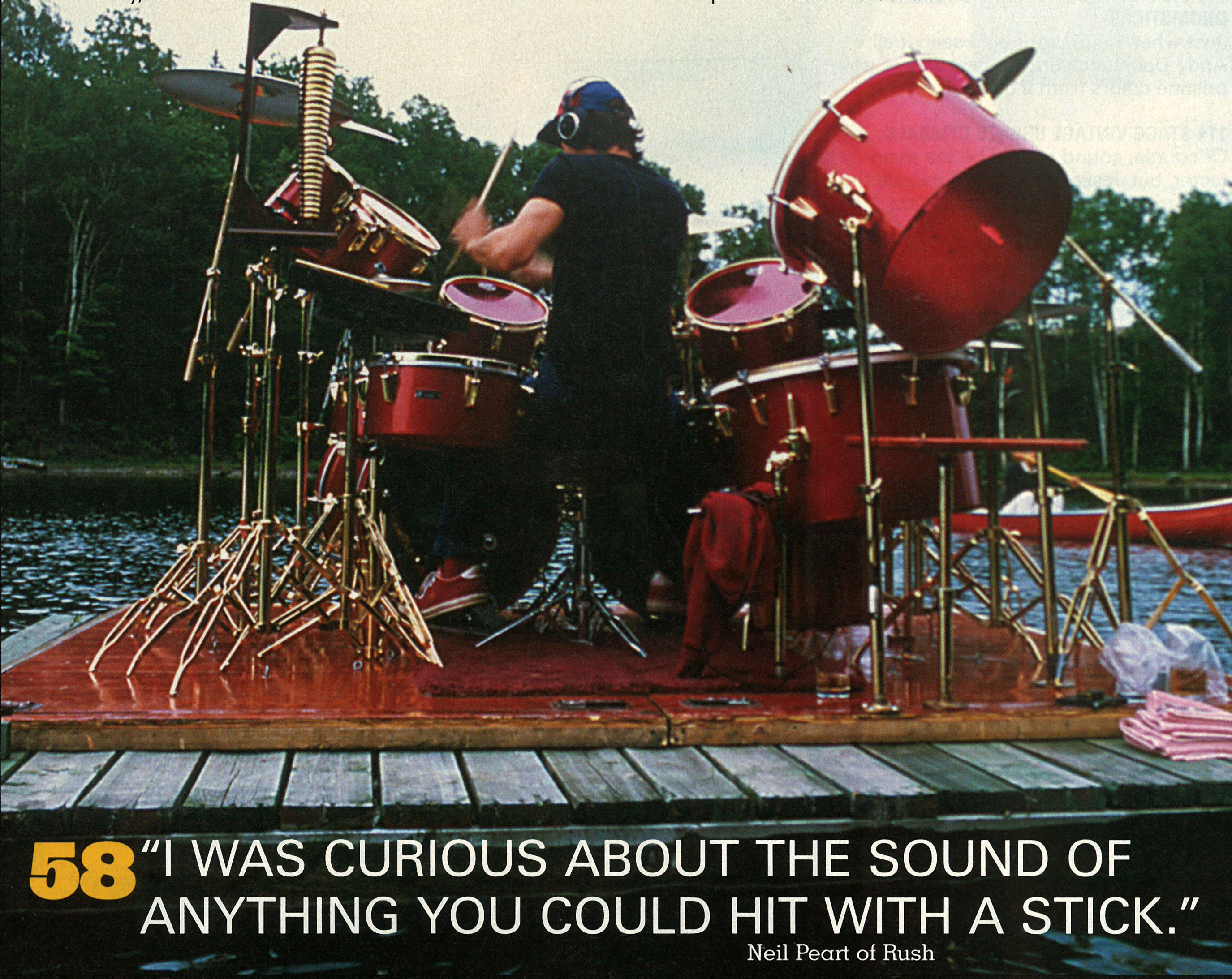 Mean Mean Stride  The Drums of Neil Peart   Drum  Magazine   October     Click Any of the Following Images to Enlarge