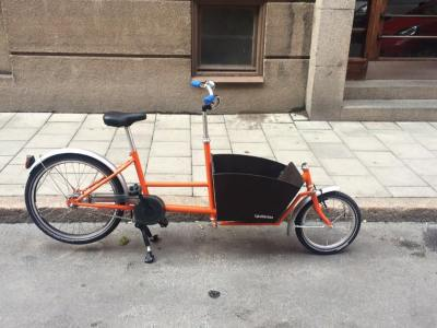 Bakfiets Mini Orange-22