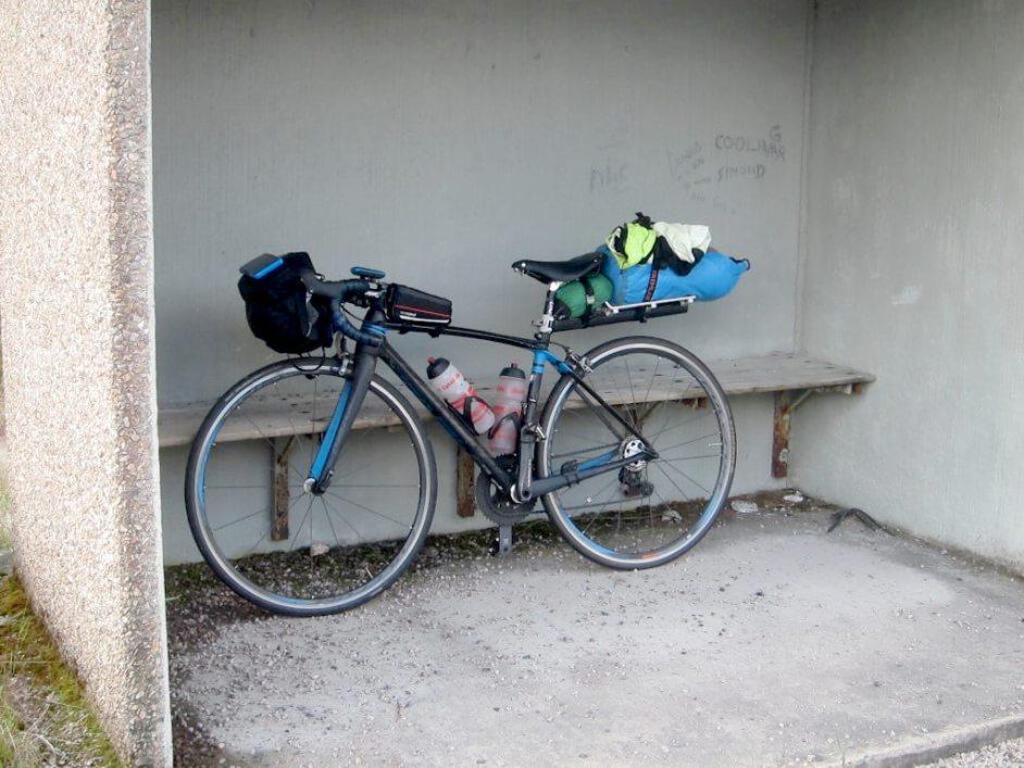 Landsvägscykel lätt packning