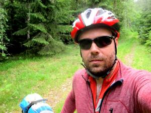Selfie cykelhjälm
