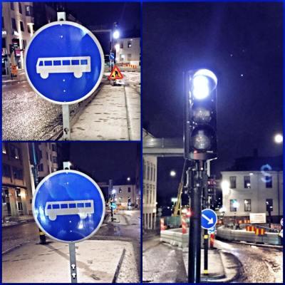 Bussfil på Hornsgatan. Lätt att missa? Foto: Polisen Södermalm. Klicka för större.
