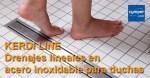 KERDI LINE – Drenajes lineales inoxidables para duchas