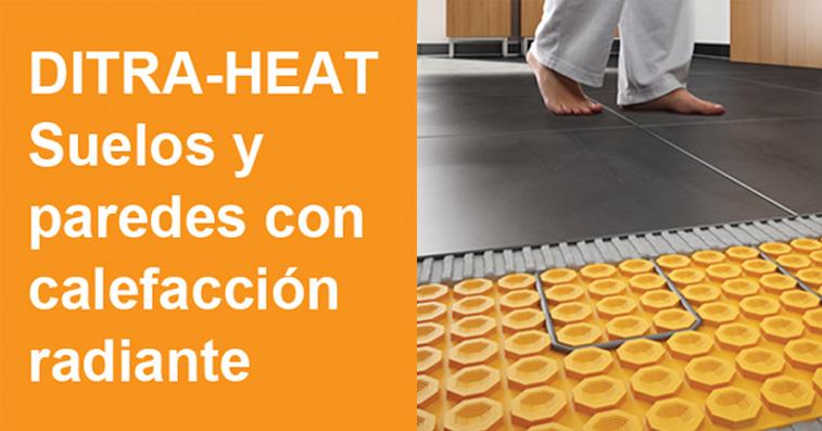 Calefacción en suelo y pared con DITRA-HEAT 0