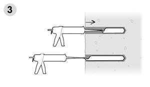 Anclajes químicos para equipamiento de vías de escalada - Paso 3