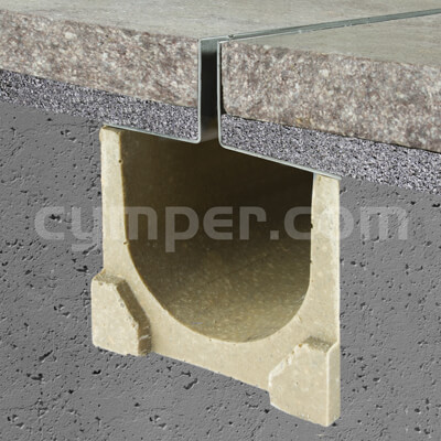 Sección tipo de rejilla ranurada oculta tipo slot para drenaje de agua de lluvia