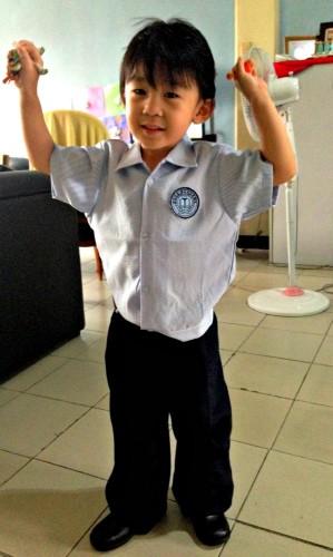 two kids in school caleb