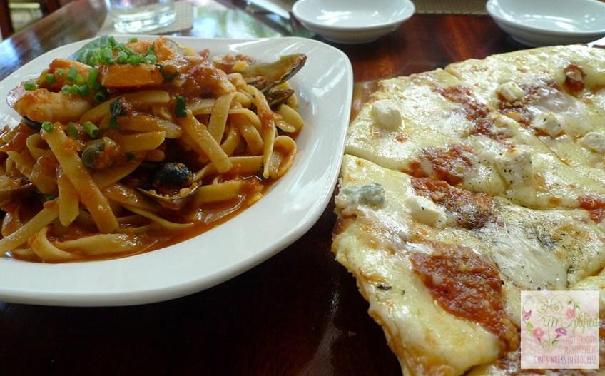 seafoodpasta+quattroformaggi