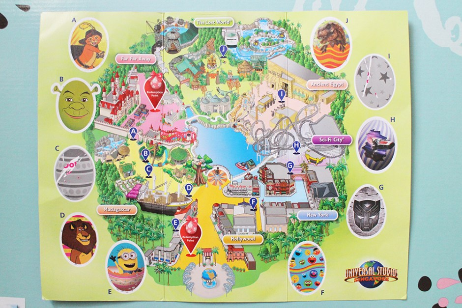 universtal studios egg quest map