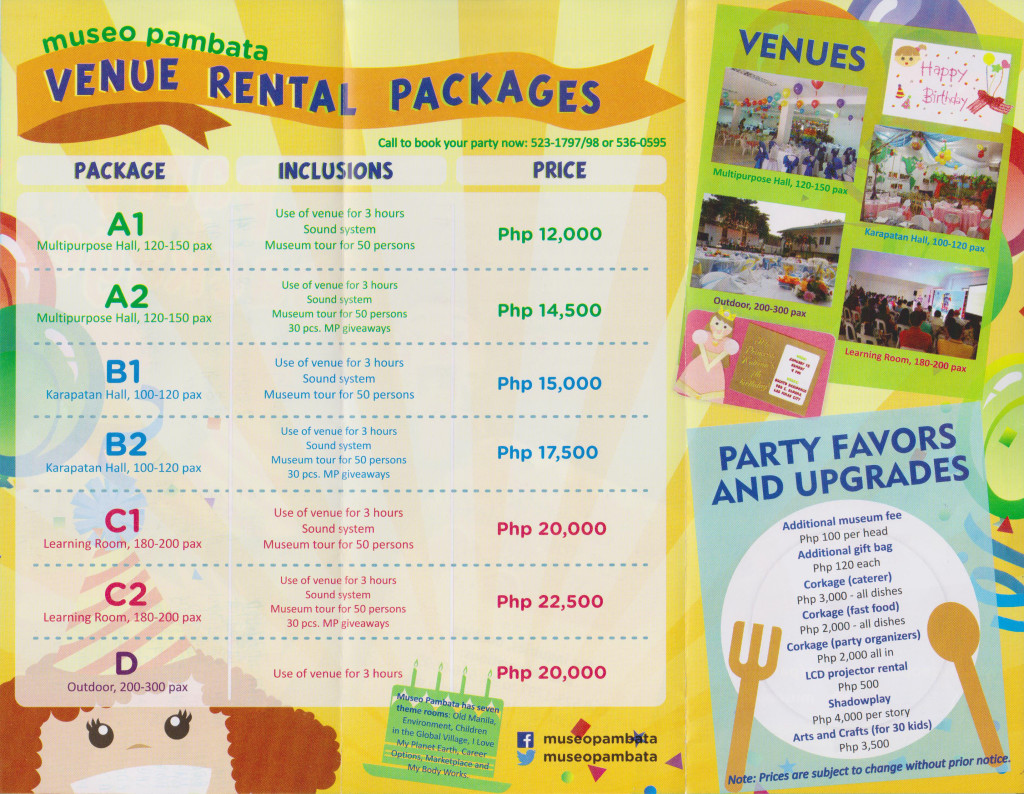 party packages to Cultivate Children's Creativity & Cultural Awareness at Museo Pambata