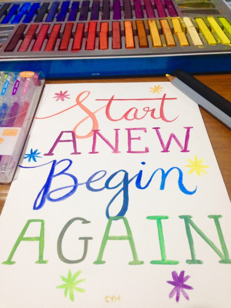 start anew begin again