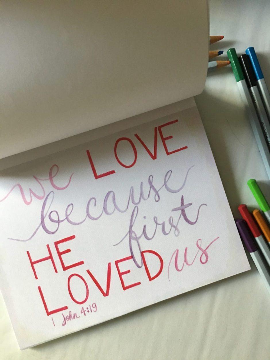 family Bible verse 1 John 4:19