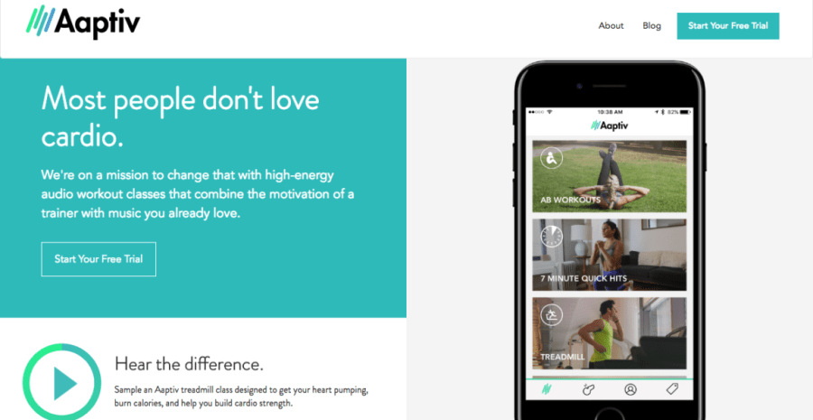 personal trainers in the pocket with aaptiv fitness app