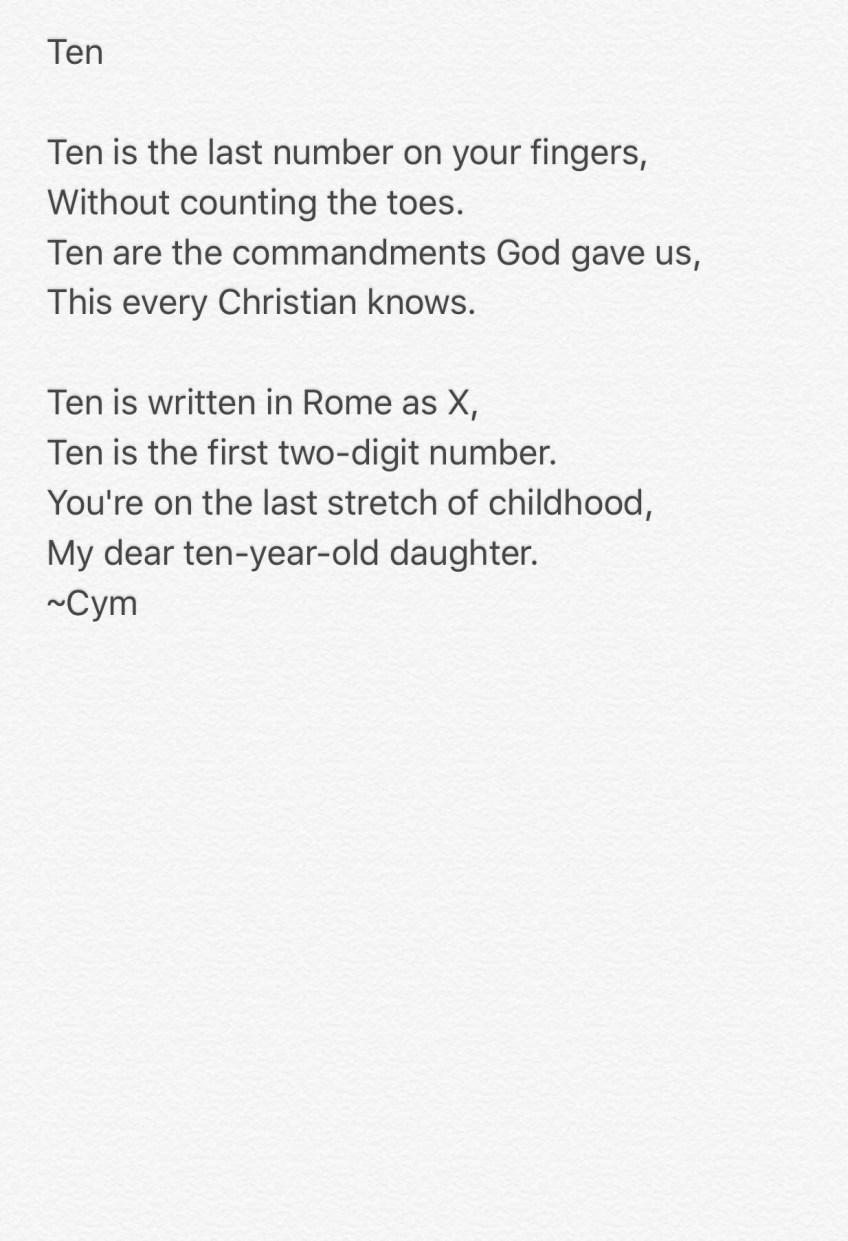 poem: ten