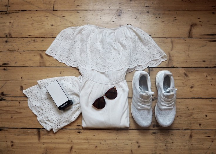 Topshop Broderie Bardot White Cyncity Cyntra Charlesworth Blogger Style