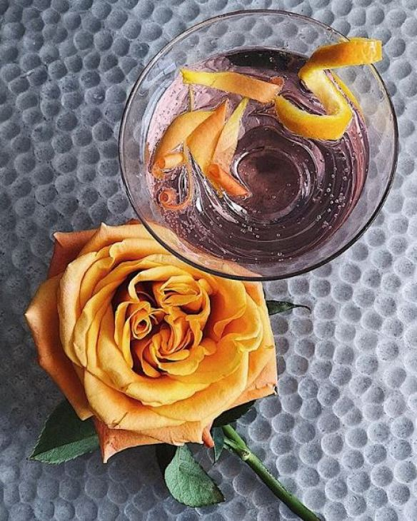 Rosewater and Orange Gin & Tonic, cyntra, cyntra charlesworth, cyncity