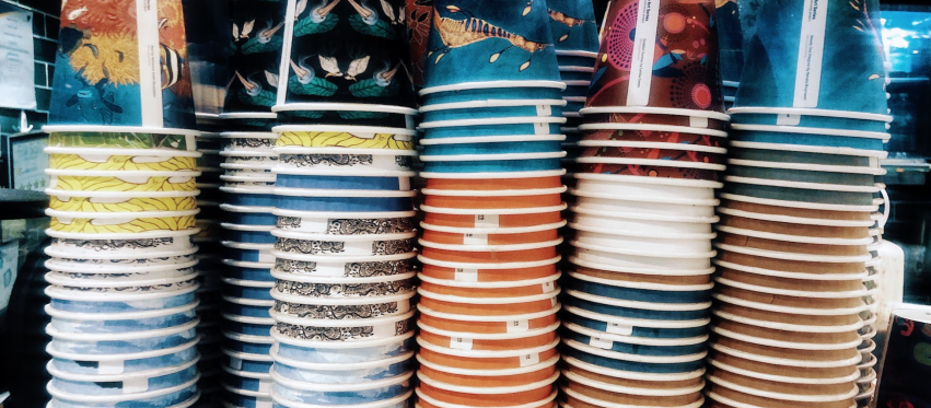 Colourful cups, art cups, patterns, Cyntra, Cyntra in the city, cyncity