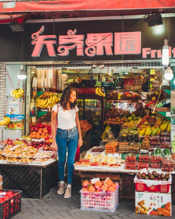 Shanghai fruit shop