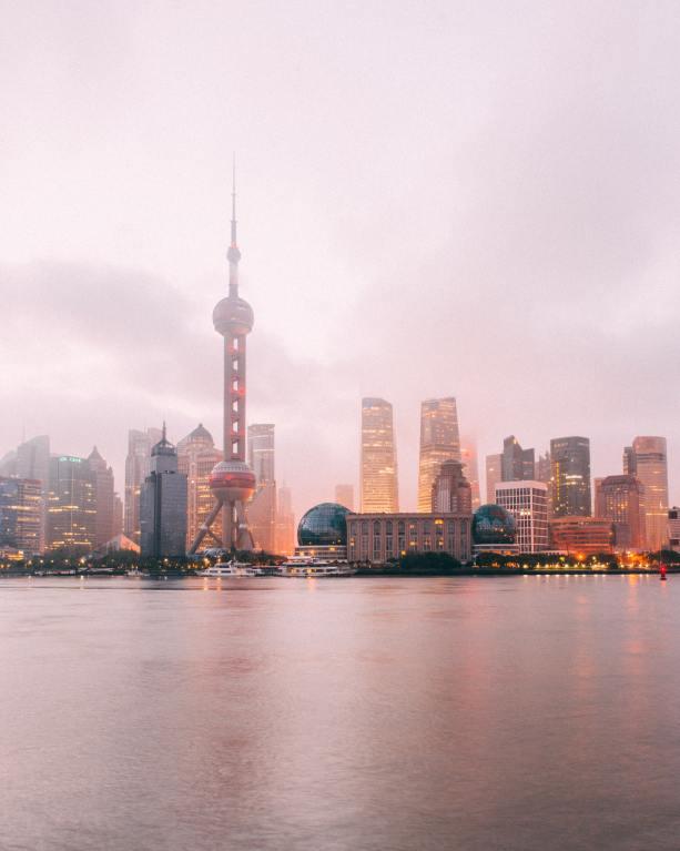 shanghai the bund sunrise