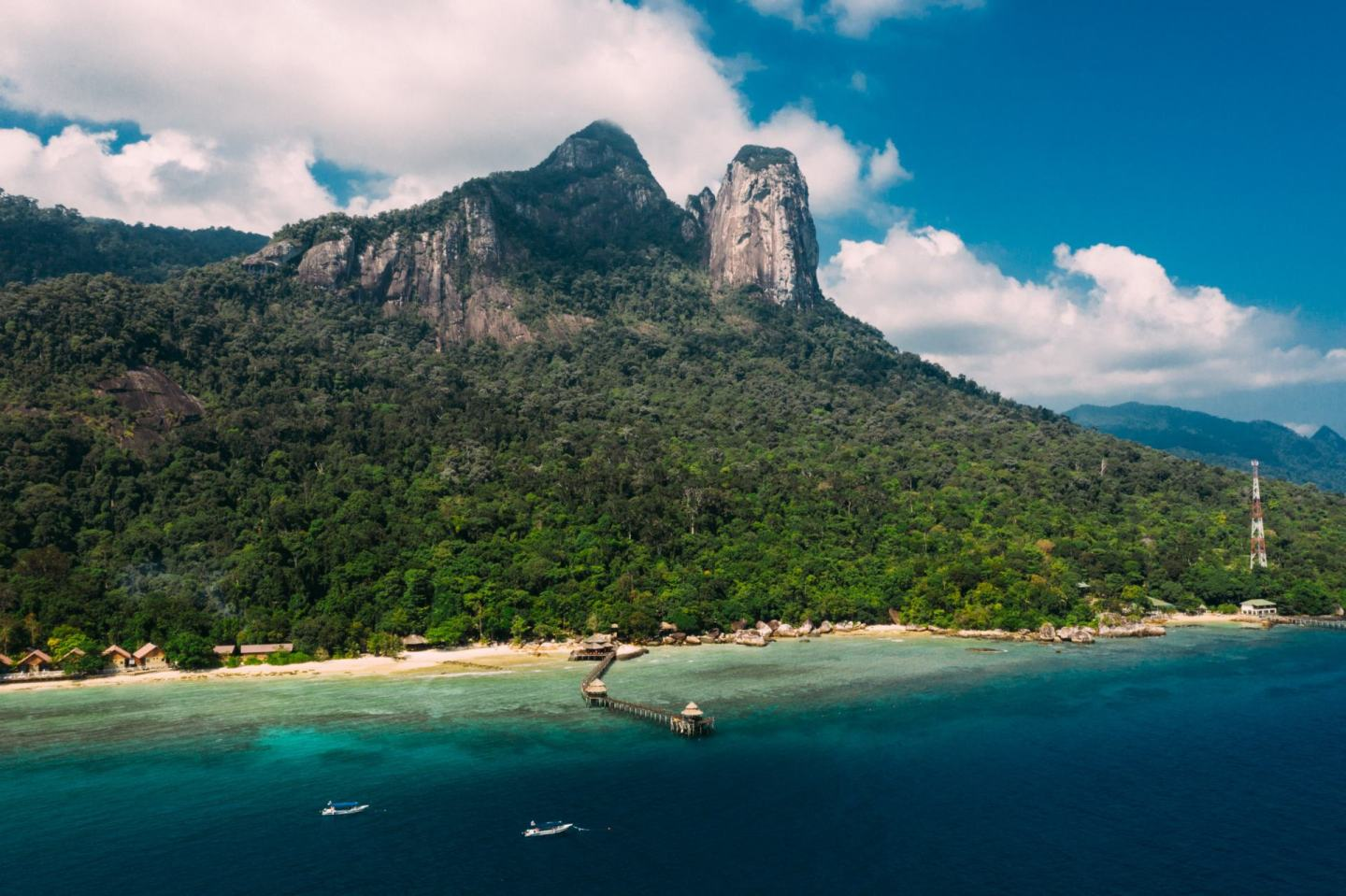 view from the island Tioman