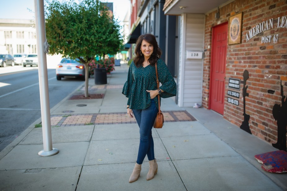 Babydoll Top + Skinny Jeans: 22 Days of Fall Fashion
