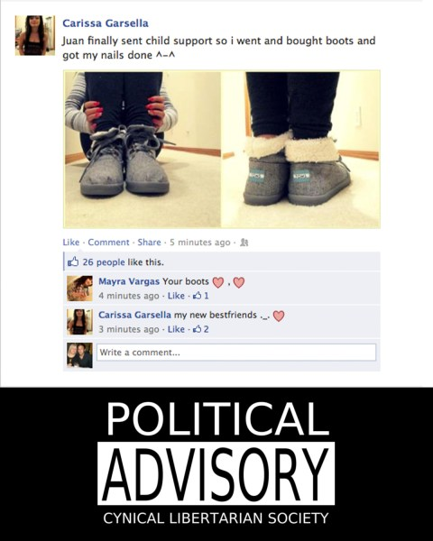 carissa garsella spent her child support money on boots and her nails - stating the obvious