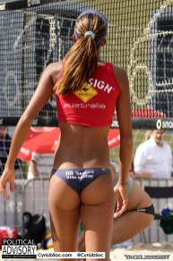 Volleyball chycks make me want to put my hand out.